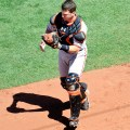 Buster Posey is by far the best catcher available in fantasy baseball drafts. Flickr/SD Dirk