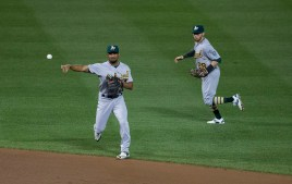 Marcus Semien has been one of the best middle infielders in the early part of the fantasy baseball season. Flickr/Keith Allison