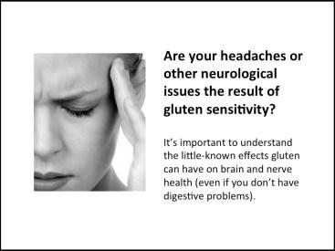 Headaches and gluten