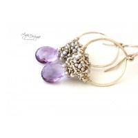 Lavender Hoop Earrings