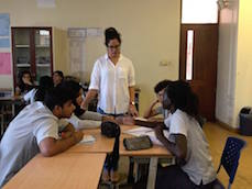 Sarra Sheikh teaching at AKA Mombasa