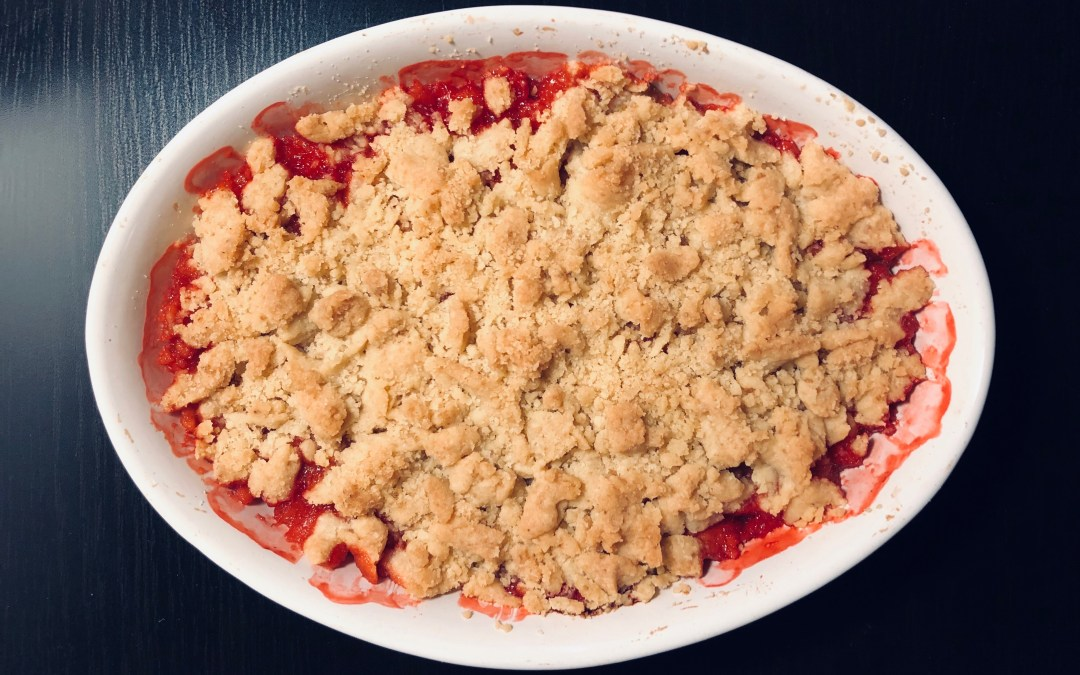 Recette : Crumble Fraise – Rhubarbe