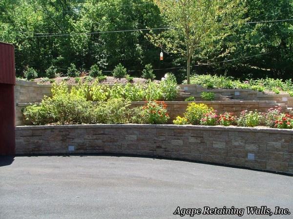 agape retaining walls hardscape