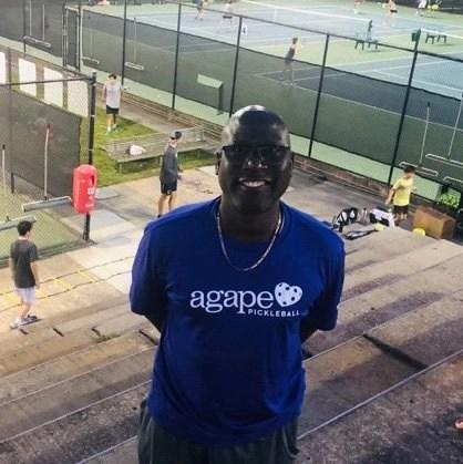 Coach Eric Melville at Agape Tennis Academy