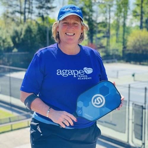 Pickleball Coach Anne Clarke at Agape Tennis Academy