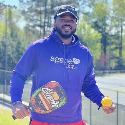 Pickleball Coach Emory Clarke at Agape Tennis Academy