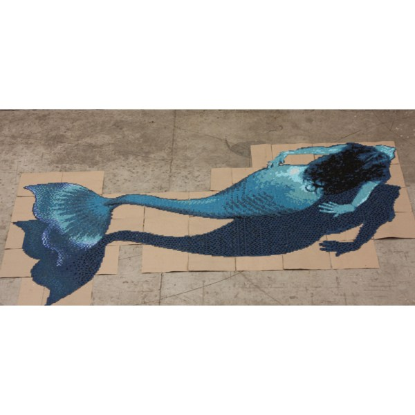 Mosaic Mermaid Tile Mural
