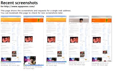Browsershots - agaponeo.com