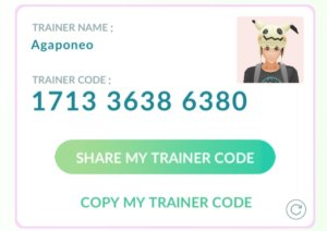 Agaponeo Trainer Code: 171336386380