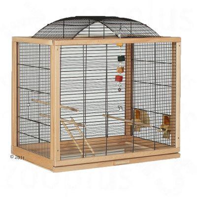 jaula de madera para agaporni
