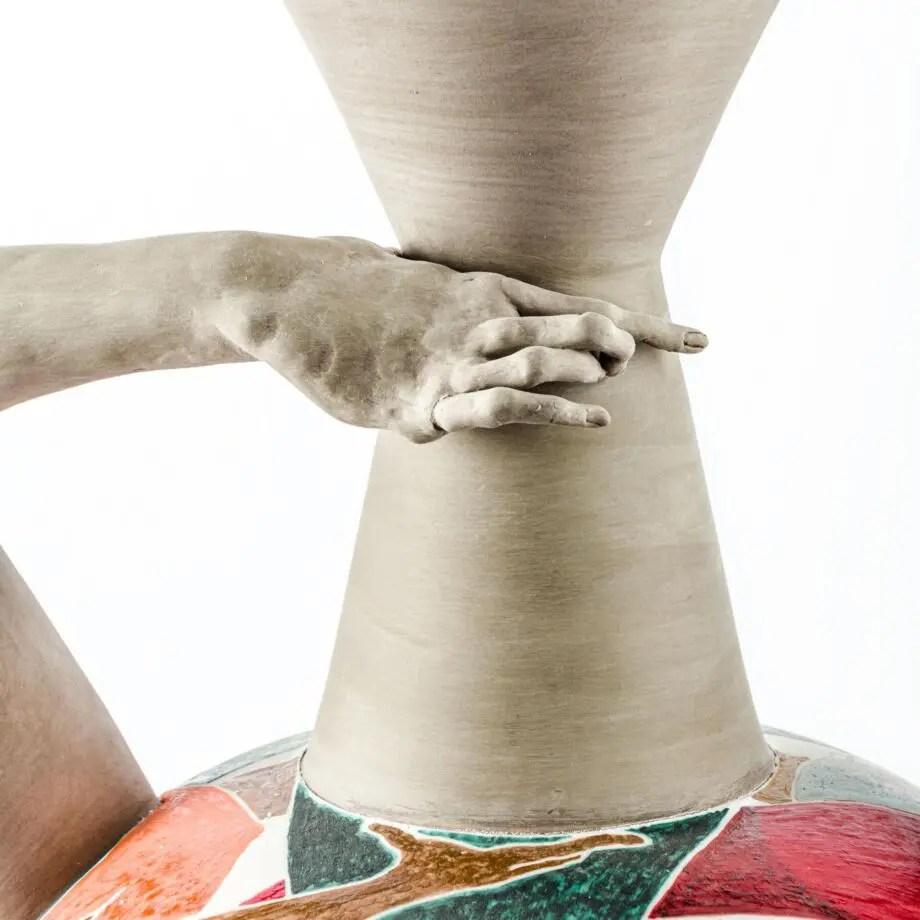 Fotografia dettaglio scultura Autogenesi policromatica giant ( dettaglio 2)