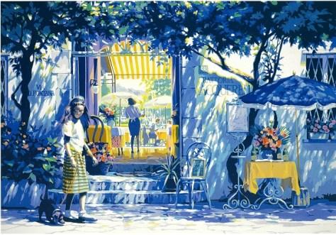 陽だまりのレストラン シルクスクリーン