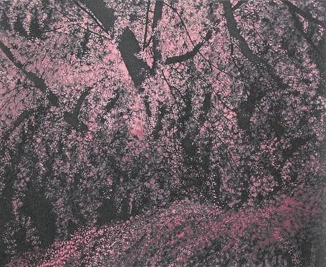 満開の瀧桜(シルクスクリーン)→売却済み
