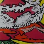 片岡球子「雲遊ぶ富士」リトグラフ