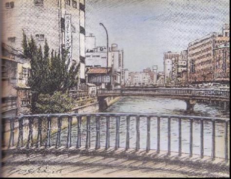 下川端商店街(東中島橋より)
