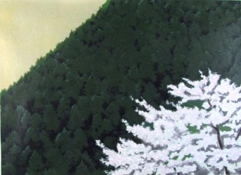 春静(木版画)