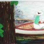 カシニョール「ボート」(リトグラフ)
