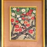 片岡球子 – 紅白梅(日本画6号)