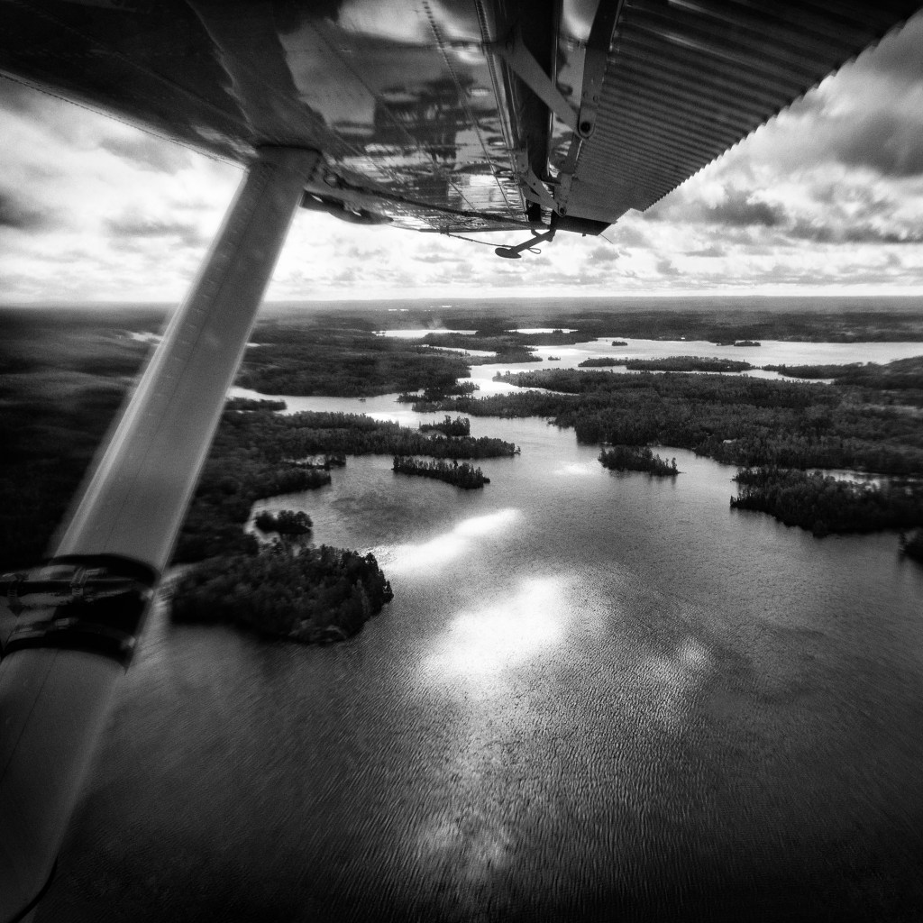 Superior National Forest after take-off from the USFS Seaplane Base. © C.Dickinson
