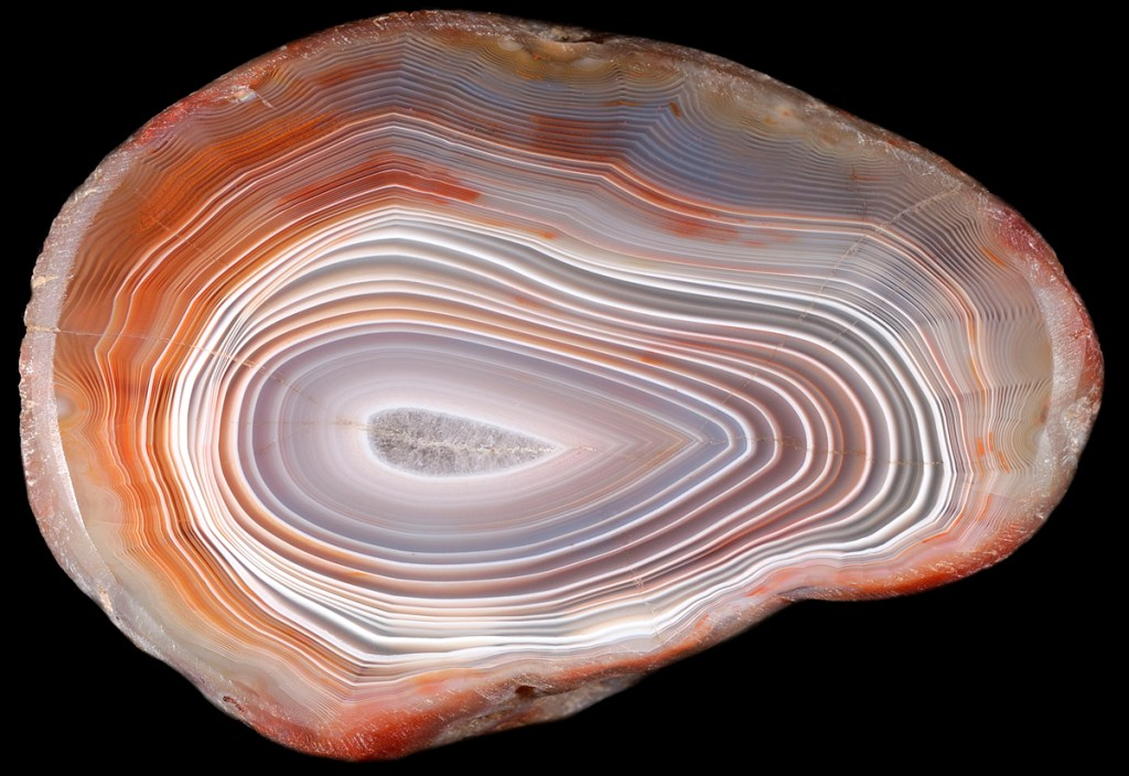 The luminous Lake Superior Agate. Photo © Gitche Gumee Agate and History Museum, Grand Marais, MI
