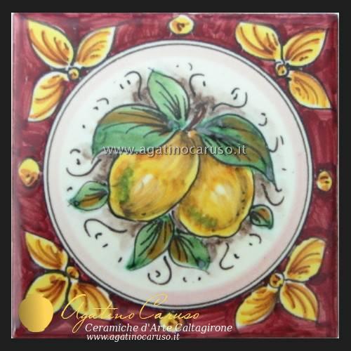 Piastrelle Caltagirone h001  Ceramiche di Caltagirone