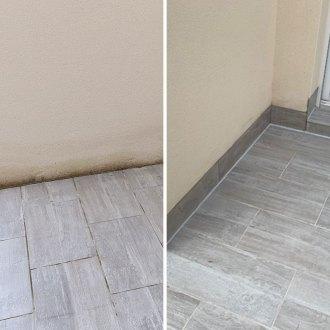 Des plinthes en bas de mur pour éviter les éclaboussures