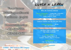 Lunch and Learn 2015 @ CANAF | Calgary | Alberta | Canada