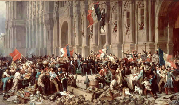 The French revolution of 1848 at the age of the sage site
