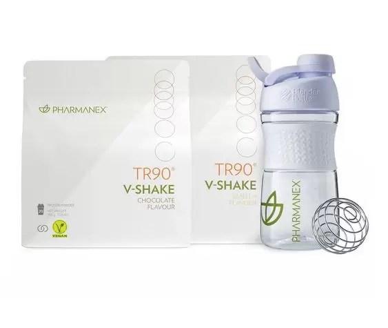 V-Shake TR90 - Ciocolată V-Shake TR90 - Vanilie, Sticlă pentru shake Pharmanex