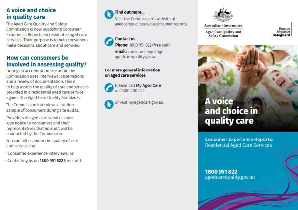 Brochures & Posters Aged Care Quality And Safety Commission