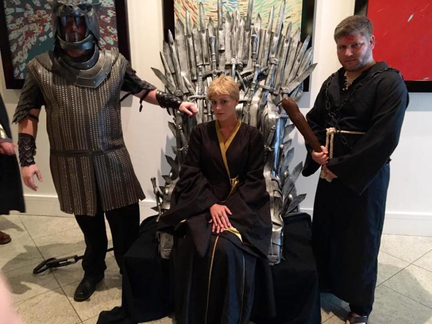 Dragon Con 2016 Cersei Lannister Cosplay Iron Throne