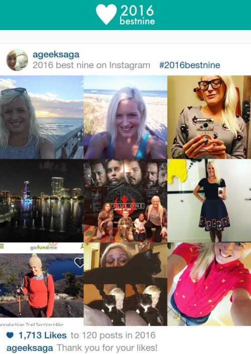 Instagram #2016bestnine