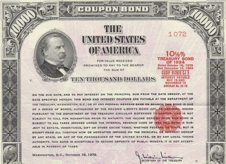 Treasury Bond, 1979 (Wikimedia Commons)