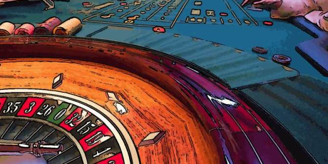 Professional Roulette Table in a Casino