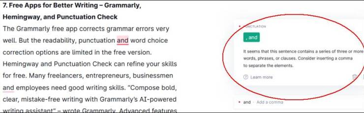 The Grammarly free app