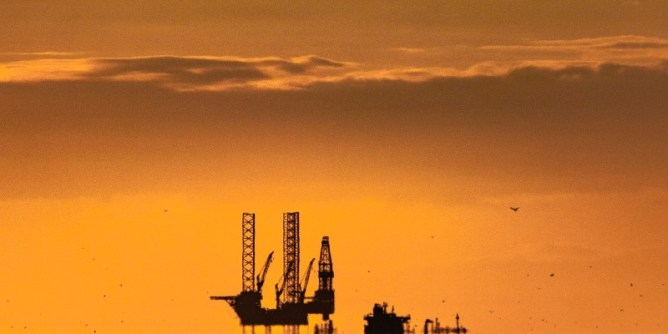 Crude Oil Rig in the Sunset