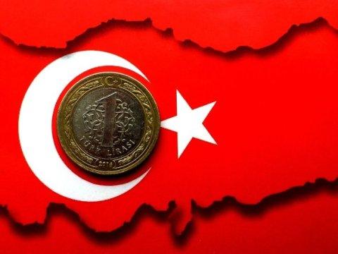 Turkish Lira Coin, Flag and Map