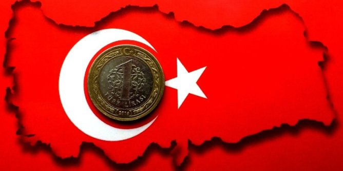 Turkish Lira Coin, Flag and Map