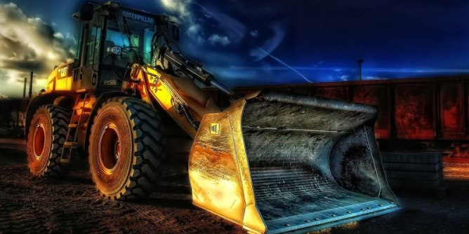 Excavator at work. Mining may be great again.