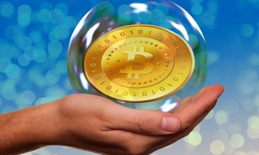 The Bitcoin (commemorative coin) in a bubble