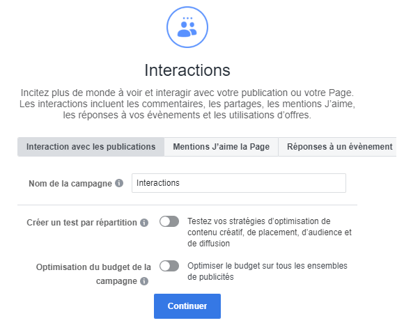 interactions fb
