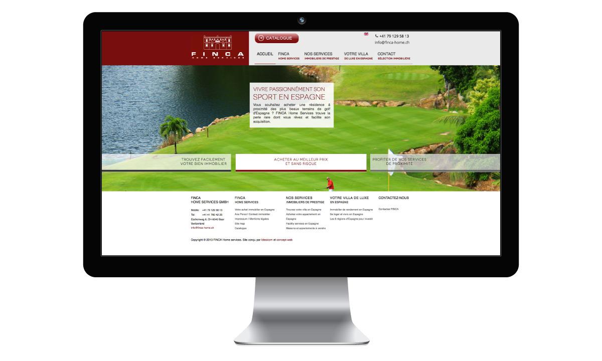 Développement d'un site internet pour l'immobilier
