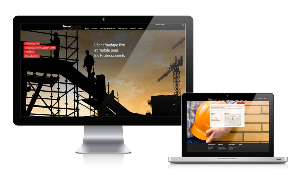Création du site et publicité sur internet pour Towersystem