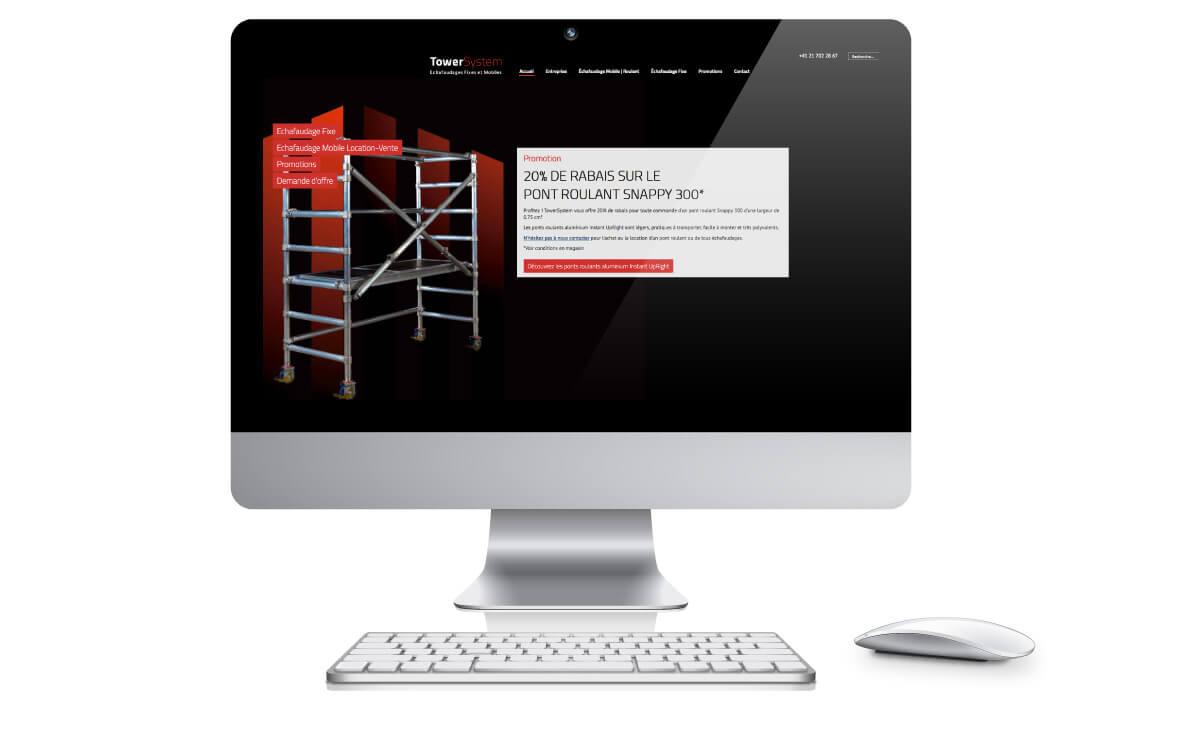 Site internet d'échafaudage mobile suisse