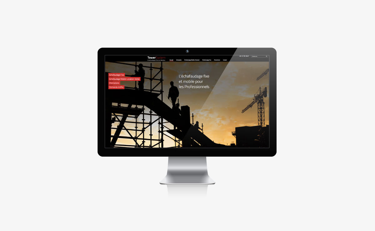 Towersystem : création du site et publicité sur internet