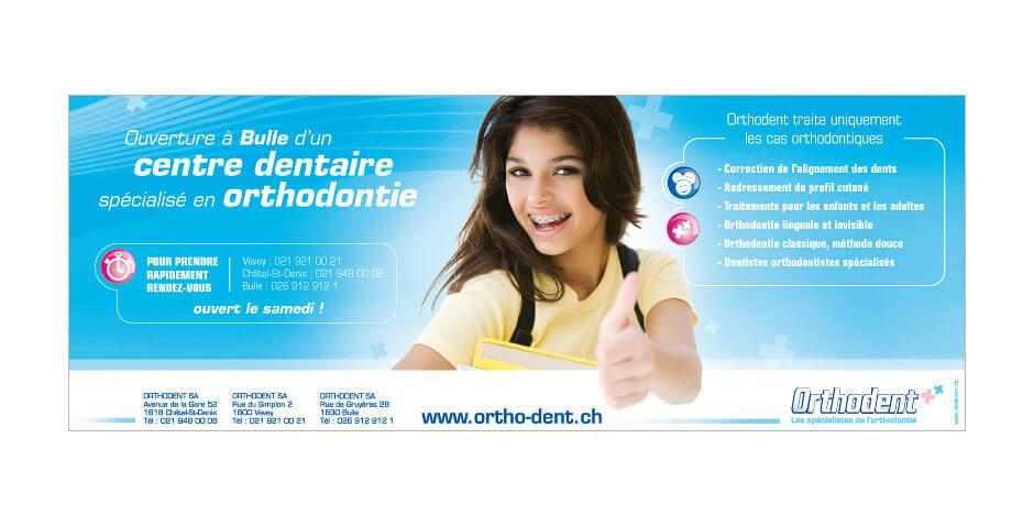 Réalisation d'une annonce publicitaire pour Orthodent