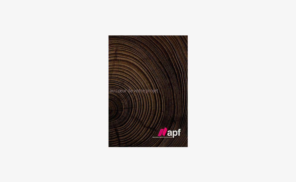 Création de la plaquette d'entreprise d'APF Menuiserie SA