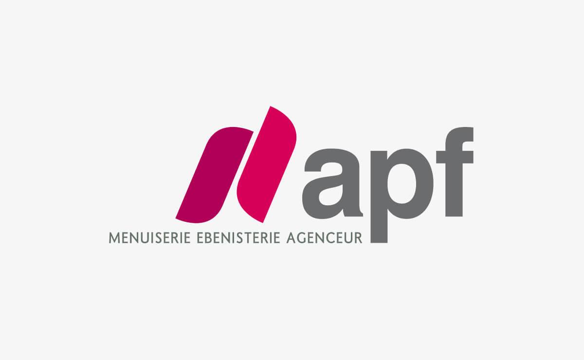 Création du logo et de l'identité d'entreprise d'APF Menuiserie SA à Etoy (Vaud   Suisse)