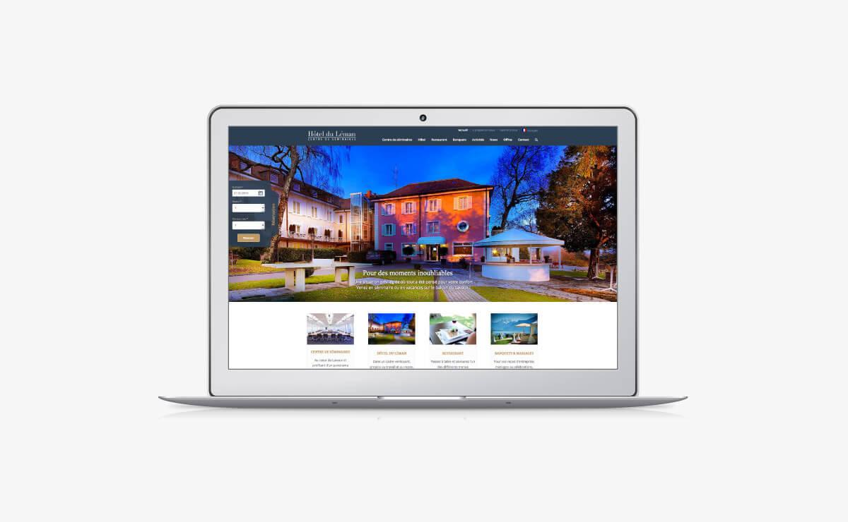 Création du site internet de l'Hôtel et du restaurant responsive WordPress