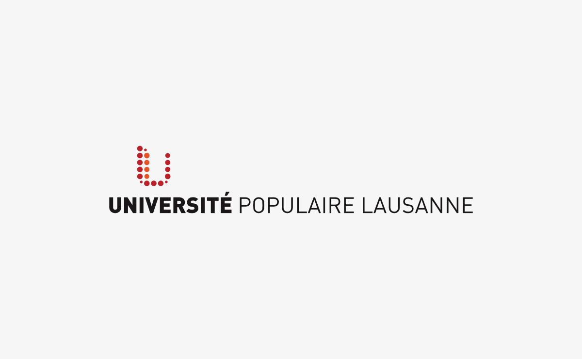 Création du logo et du corporate de L'université Populaire de Lausanne